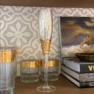 Kim Seybert Paillette Flute - champagne flute-new